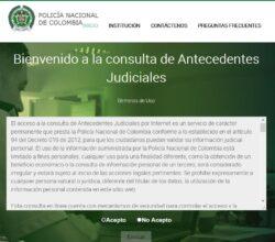 consultar antecedentes judiciales Policía Nacional de Colombia