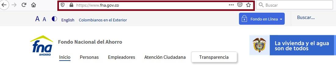FIGURA 1. Portal online Fondo Nacional de Ahorro