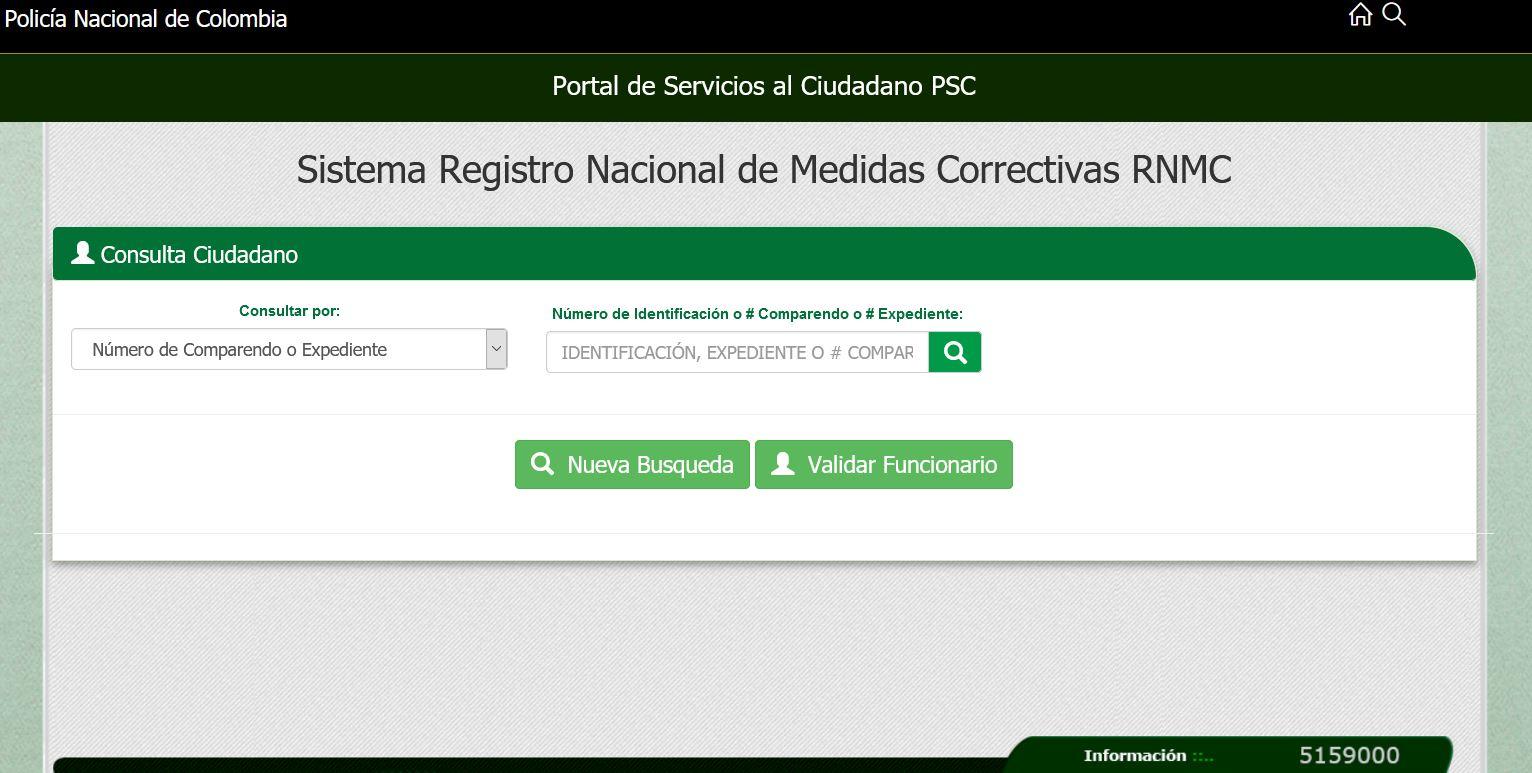 Certificado de medidas correctivas -POLICÍA NACIONAL DE COLOMBIA